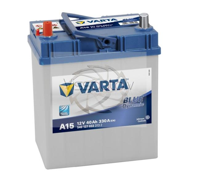 VARTA BLUE DYNAMIC A15 40Ah 330A L+ 187mm x 127mm x 207mm Akumulators