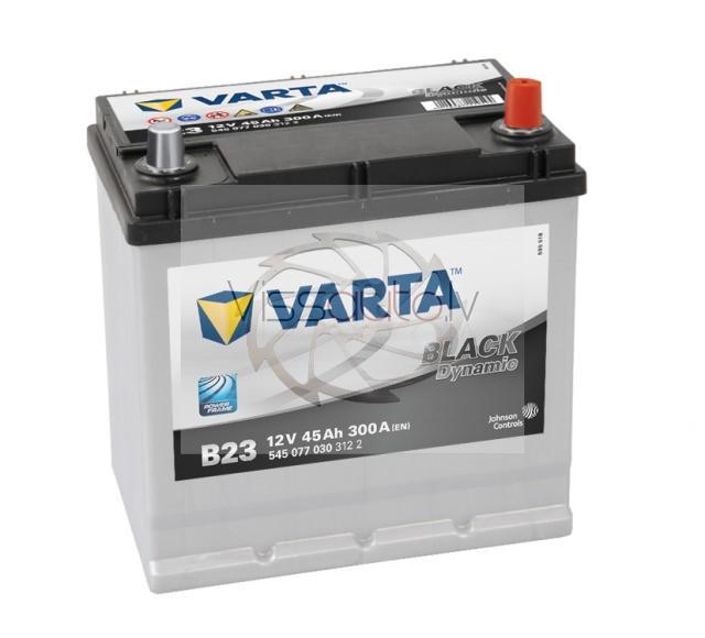 VARTA BLACK DYNAMIC B23 45Ah 300A R+ 219mm x 135mm x 225mm Akumulators