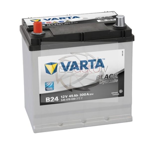 VARTA BLACK DYNAMIC B24 45Ah 300A L+ 219mm x 135mm x 225mm Akumulators