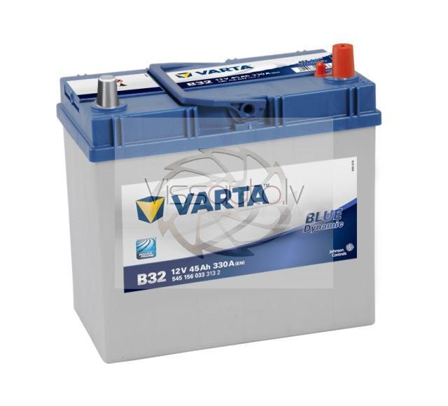 VARTA BLUE DYNAMIC B32 45Ah 330A R+ 238mm x 129mm x 227mm Akumulators
