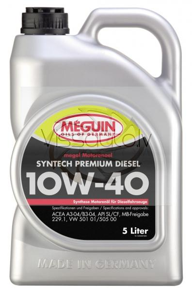 "MEGUIN SYNTECH PREMIUM ""DIESEL"" 10w40 1L Motoreļļa"
